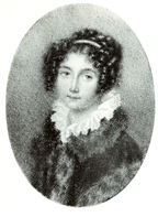 Josephine Gräfin Deam von Stritez, geb. Gräfin Brunswick. Unsignierte Miniatur. (Landon)