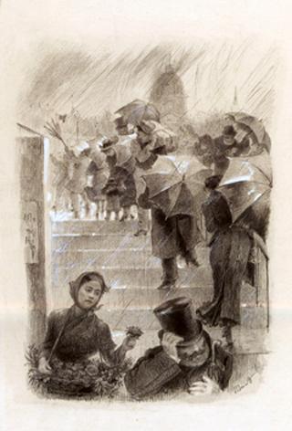 Bracquemont- Die Regenschirme o. J.