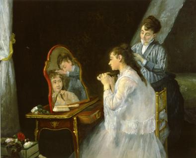 Gonzalès- Die Morgentoilette- um 1875-76