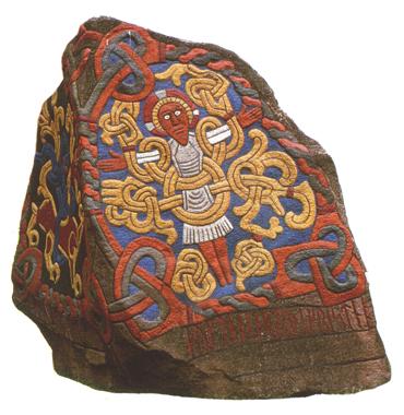 Runenstein Harald Blauzahns in Jelling, Vorderseite