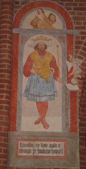 Bildnis Harald Blauzahns im Dom zu Roskilde