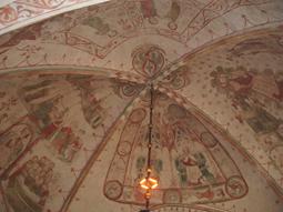 Kalkmalereien in der St. Nicolai-Kirche zu Sölvesborg