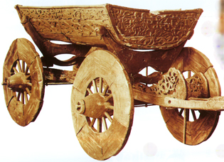 Wagen des Oseberg-Schiffes