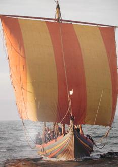 Wikingerschiff (nachgebaut), Foto im Museum von Roskilde