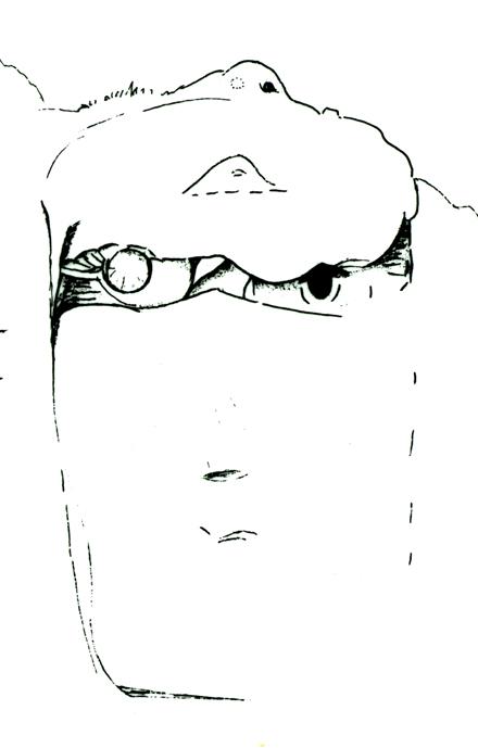Der Einäugige im Felsgestein (Elisabeth Neumann-Gundrum, Europas Kultur der Großskulpturen)